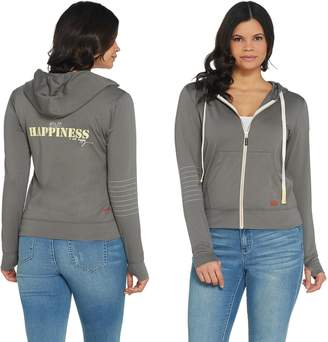 Peace Love World Zip Front Affirmation Hoodie