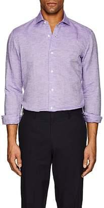 Barba Men's Slub-Weave Linen-Cotton Shirt