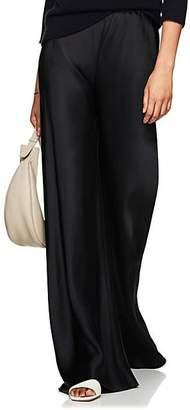 The Row Women's Gala Satin Wide-Leg Pants - Black