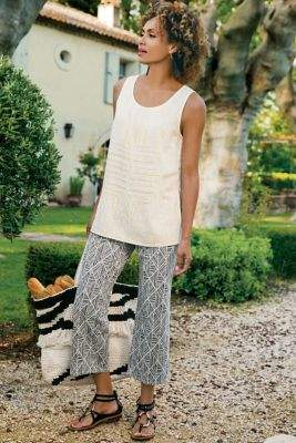 Soft Surroundings Geometrique Crop Pants