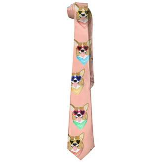 Corgi JOMYY neckties JOMYY Men's Colorful Love Sunglass Fashion Ties Neck Tie Skinny Ties
