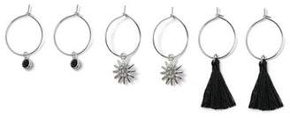 Miss Selfridge Charm hoop earrings