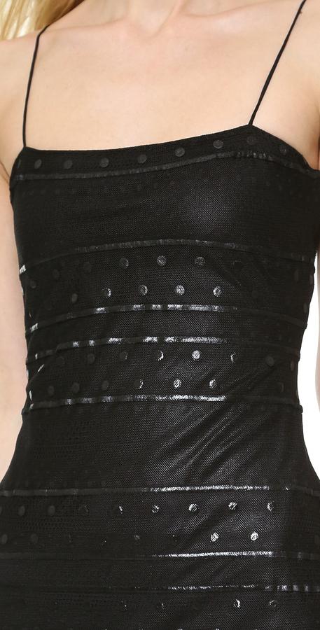 Wes Gordon Banded Lace Dress