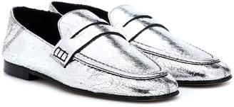 Isabel Marant Fezzy metallic leather mules