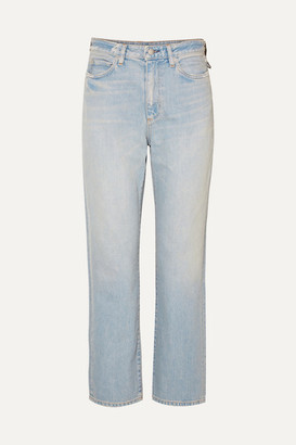 Simon Miller W007 Distressed High-rise Straight-leg Jeans - Light denim