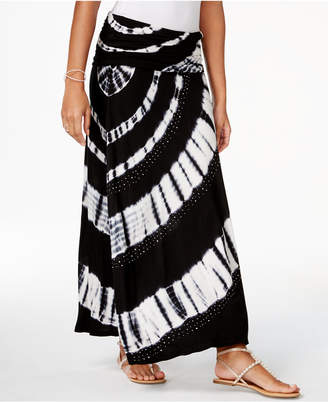 INC International Concepts I.n.c. Petite Tie-Dyed Convertible Dress to Maxi Skirt, Created for Macy's
