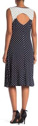 Jones New York Cutout Dotted Dress