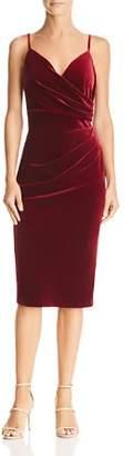 Aijek Faux-Wrap Velvet Dress - 100% Exclusive