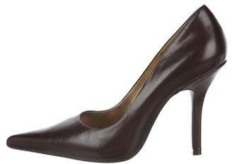 Chinese Laundry Leather Pointed-Toe Pumps