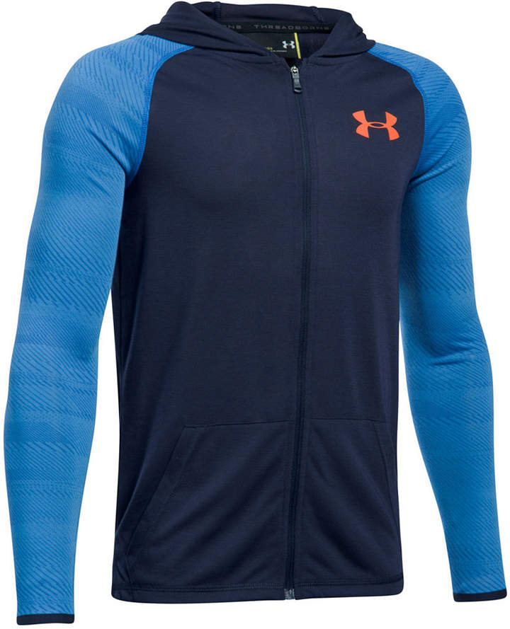 UA Threadborne Siro Full-Zip Hoodie, Big Boys