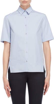 Jil Sander Pastel Blue Vented Shirt