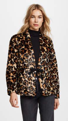 McQ Alexander McQueen Short Leopard Coat