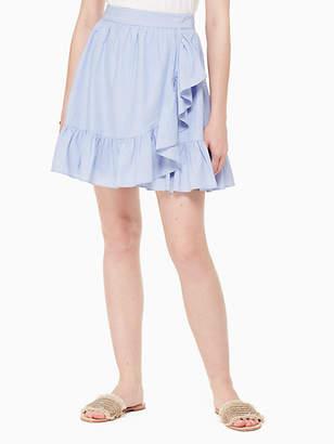 Kate Spade Ruffle wrap mini skirt