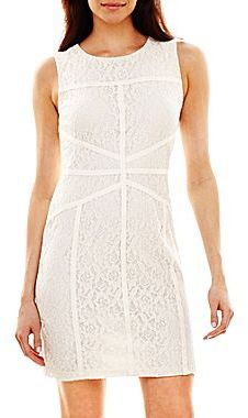 JCPenney Bisou Bisou® Seamed Lace Dress