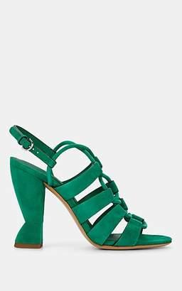 Salvatore Ferragamo Women's Sirmio Suede Sandals - Green