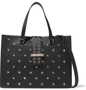 RED Valentino Embellished Textured-Leather Shoulder Bag