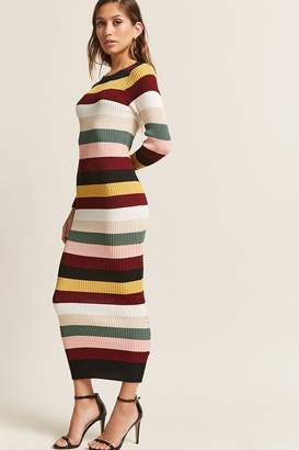 Forever 21 Multicolor Stripe Bodycon Maxi Dress