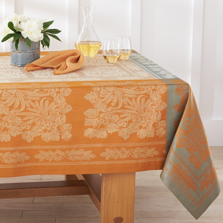 Williams-Sonoma Autumn Wheat Jacquard Tablecloth
