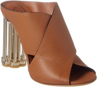 Salvatore Ferragamo Abriola Leather Heel