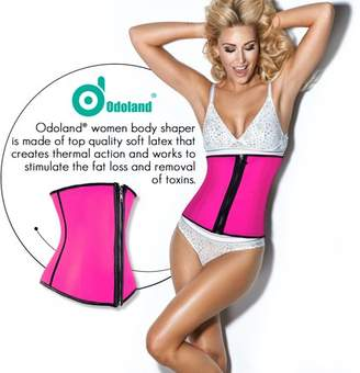 Odoland Women Body Shaper Shapewear Sport Girdle Waist Corset Tummy Slimmer Training Cincher Underbust w/ Zipper