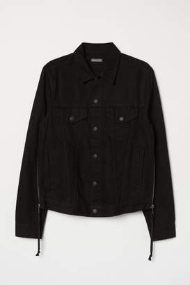 H&M Denim Jacket with Zips - Black