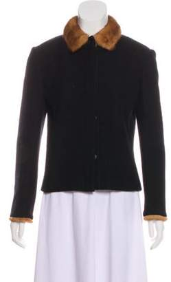 Burberry Wool Button-Up Jacket Black Wool Button-Up Jacket