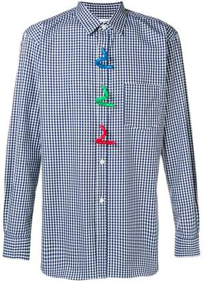 Comme des Garcons abstract button checked shirt