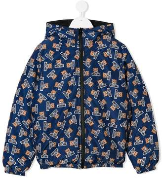Moschino Kids Teddy Toy reversible padded jacket