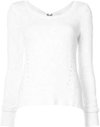 Derek Lam 10 Crosby Long Sleeve Sweater With Woven Back Ties