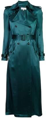 Fleur Du Mal sheen trench coat