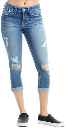 True Religion Curvy Distressed Capri Jeans