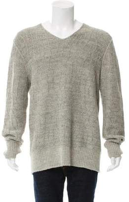 John Varvatos Wool & Alpaca-Blend V-Neck Sweater