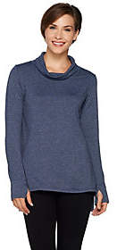Cuddl Duds Comfortwear French Terry Long SleeveMock Neck Tunic