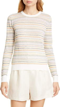 Joie Ade Stripe Linen Blend Sweater