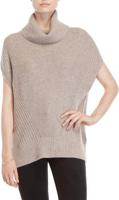 Forte Cashmere Cowl Turtleneck Short Sleeve Cashmere Sweater