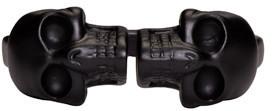 Alexander McQueen Black Twin Skull Ring $215 thestylecure.com