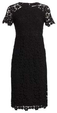 Shoshanna Women's Beaux Guipure Lace Sheath Dress - Jet - Size 4