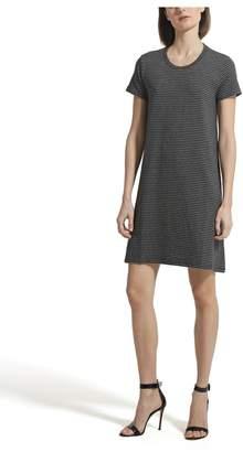 ATM Anthony Thomas Melillo Sparkle Stripe Short Sleeve Crew Neck Dress - Exclusive