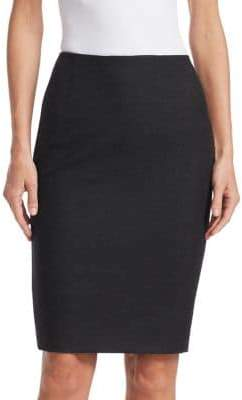 Akris Wool Flannel Pencil Skirt