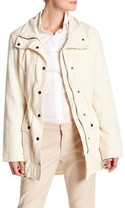 Velvet by Graham & Spencer Arlene Linen Blend Funnel Collar Jacket