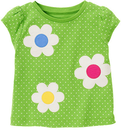 Gymboree Flower Dot Tee