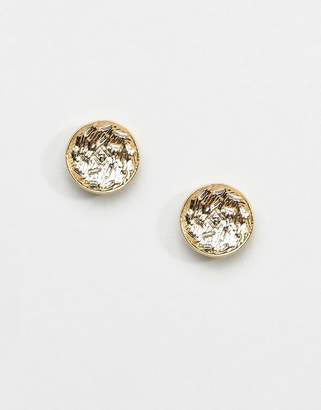 Whistles Textured Disc Stud Earrings