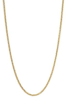 "Bloomingdale's Men's Solid Wheat Chain Necklace in 14K Yellow Gold, 24"" - 100% Exclusive"