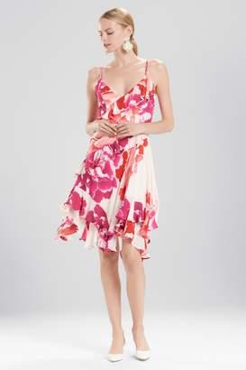 Natori Josie Peony Ruffle Slip Dress