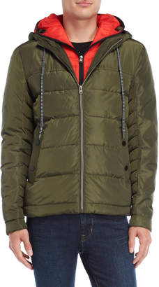 Gaudi' Gaudi Jeans Hooded Bib Puffer Jacket