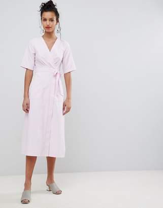 Yumi Wrap Midi Dress
