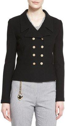 St. John Collection Nouveau Boucle Knit Spencer Jacket, Caviar $1,495 thestylecure.com