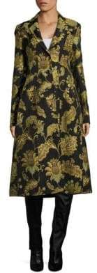 Derek Lam Printed Tailored Notch Coat