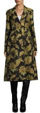 Derek Lam Printed Tailored Notch Coat