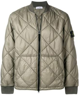 Stone Island quilted bomber jacket